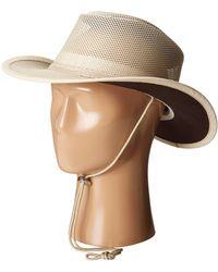 b443dbb6bbe Stetson - Mesh Covered Safari With Chin Cord (walnut) Safari Hats - Lyst