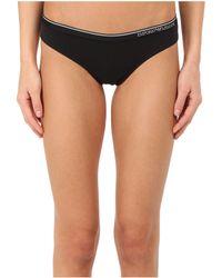 Emporio Armani - Essential Stretch Cotton Brasilian Brief (black) Women's Underwear - Lyst
