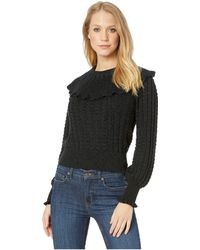 Free People - Crazy In Love Ruffle (black) Women's Clothing - Lyst