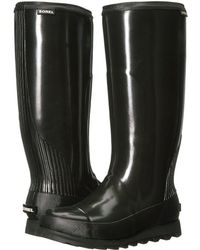 2c2527acc47 Sorel - Joan Rain Tall Gloss (black sea Salt) Women s Waterproof Boots -