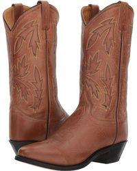 Old West Boots - Mattie J Toe (black) Cowboy Boots - Lyst