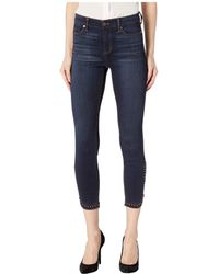 Liverpool Jeans Company - Abby Ankle Zip Scallop Studs In Super Soft Stretch Denim Jeans In Mckinley (mckinley) Women's Jeans - Lyst