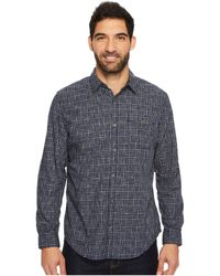 Calvin Klein Jeans   Long Sleeve Space Dyed Check Button Down Shirt   Lyst