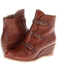 Eric Michael - Lena (brown) Women's Zip Boots - Lyst