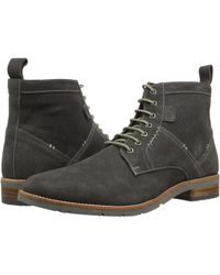 Ben Sherman - Rugged Leather Boot (grey Suede) Men's Shoes - Lyst