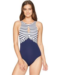 Tommy Bahama - Channel Surf Twist Front High Neck One-piece - Lyst