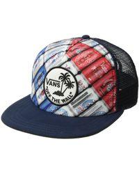 Vans - Surf Patch Trucker Hat (ameri Can) Caps - Lyst