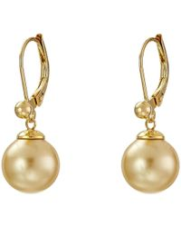 Majorica - 10mm S.s.w. Drop E/w Earrings - Lyst