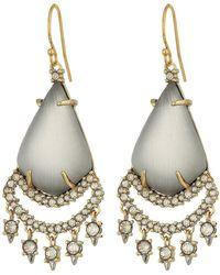 Alexis Bittar - Crystal Lace Chandelier Earrings (grey) Earring - Lyst