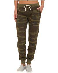 Alternative Apparel - Eco Fleece Jogger Pant (oatmeal Camo) Women's Casual Pants - Lyst