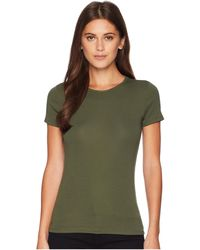 Lauren by Ralph Lauren - Stretch Cotton T-shirt (admiral Green) Women's T Shirt - Lyst