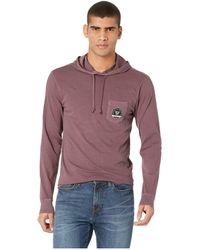 Vissla - Car Park Long Sleeve Hoodie (burgundy) Men's Clothing - Lyst