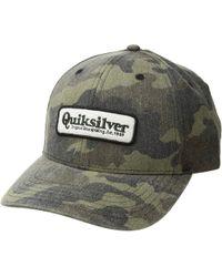 f228303a029db Lyst - Quiksilver Bullish Hat (camo) Caps in Blue for Men