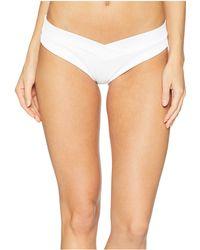 Luli Fama - Costa Del Sol Ribbed High Leg Moderate Back Bottom (banana) Women's Swimwear - Lyst