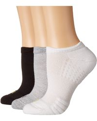 Hue - Air Cushion No Show 3d Sole Socks 3-pair Pack (light Charcoal Heather) Women's No Show Socks Shoes - Lyst