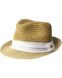 d65df8059abb52 Steve Madden - Paper Crochet Straw Fedora With Woven Band (blush) Fedora  Hats -