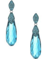 Swarovski - Height Pierced Earrings (aqua) Earring - Lyst