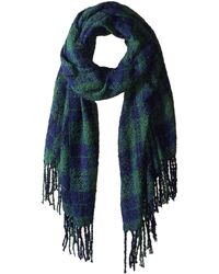 Free People - Emerson Plaid Scarf (red) Scarves - Lyst