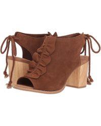 c2de9bea864 Lyst - Toms Desert Taupe Suede Oxford Women s Poppy Sandals
