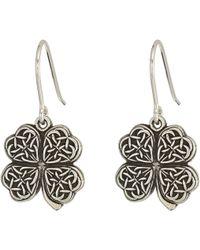 ALEX AND ANI - Four Leaf Clover Hook Earrings (rafaelian Gold) Earring - Lyst