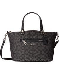 COACH - Signature Prairie Satchel (li/khaki/brown) Satchel Handbags - Lyst