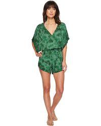 Green Dragon - Crystal Forest Eliza Kimono Sleeve Romper - Lyst