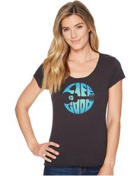 Life Is Good. - Groovy Guitar Smooth Scoop Tee (night Black) Women's T Shirt - Lyst
