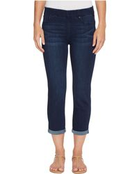 Liverpool Jeans Company - Chloe Rolled Cuff Pull-on Capris In Silky Soft Denim In Griffith Super Dark - Lyst