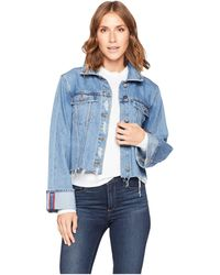 Two By Vince Camuto - Classic Cuff Bell Sleeve Fray Hem Jean Jacket (indigo River) Women's Coat - Lyst