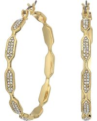 Vince Camuto - Hidden Details Pave Hoop Earrings - Lyst
