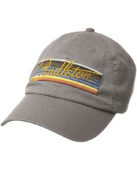 Pendleton - Olympic Park Stripe Embroidered Cap (grey) Caps - Lyst