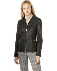 Marc New York - Fabian Glove Lamb Wing Collar Jacket (black) Women's Coat - Lyst
