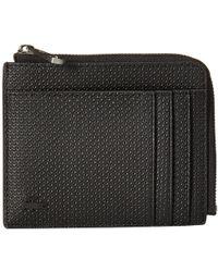 Lacoste - Chantaco Zip Around Wallet (black) Wallet Handbags - Lyst
