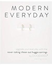 Dogeared - Modern Everyday, Huggie Earrings (gold) Earring - Lyst