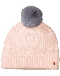 Ted Baker - Cable Knit Bobble Hat - Lyst 8a59dab8e075