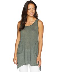 Allen Allen - Scoop Neck Angled Tunic (aquamarine) Women's Sleeveless - Lyst