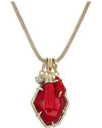 Kendra Scott - Hailey Necklace (gold/red/mother-of-pearl) Necklace - Lyst
