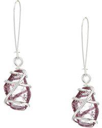 Robert Lee Morris - Caged Stone Drop Earrings (olivine) Earring - Lyst