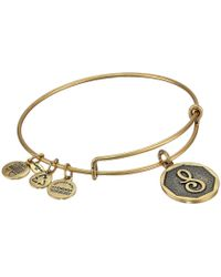 ALEX AND ANI - Initial S Charm Bangle - Lyst