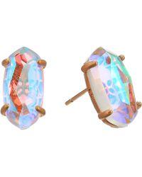 Kendra Scott - Betty Earrings (rose Gold/blush Dichroic Glass) Earring - Lyst