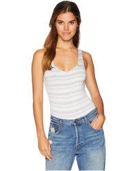 Michael Stars - Kali Stripe Sleeveless Bodysuit (white) Women's Jumpsuit & Rompers One Piece - Lyst