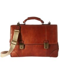 Bosca - Dolce Collection - Double Compartment Flapover Brief (amber) Briefcase Bags - Lyst