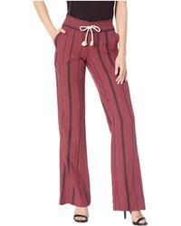 Roxy - Oceanside Pants Yarn-dye (oxblood Red/tea Party Stripe) Women's Casual Pants - Lyst