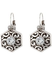 Brighton - Deco Solitaire Leverback Earrings - Lyst