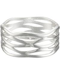 Robert Lee Morris - Cut Out Hinge Bangle Bracelet (silver) Bracelet - Lyst