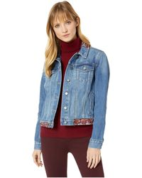 Two By Vince Camuto - Tapestry Patchwork Classic Denim Jacket (indigo River) Women's Coat - Lyst