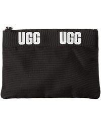 UGG - Medium Zip Pouch Sport (black) Travel Pouch - Lyst