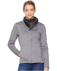 Jack Wolfskin - Atlantic Sky Jacket (pebble Grey) Women's Coat - Lyst