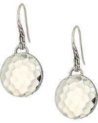 John Hardy - Dot Drop Hammered Earrings - Lyst
