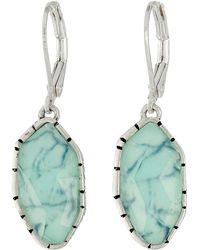 The Sak - Irregular Stone Drop Earrings (turquoise) Earring - Lyst